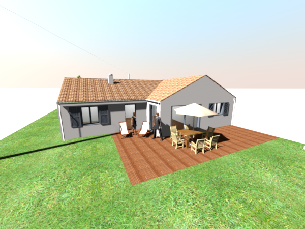 Construction de la maison en 3d avec sweet home 3d for Amenagement exterieur 3d