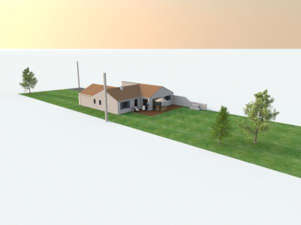 ... Vue 3D Extérieur En Vue Du Dessus 1 ...