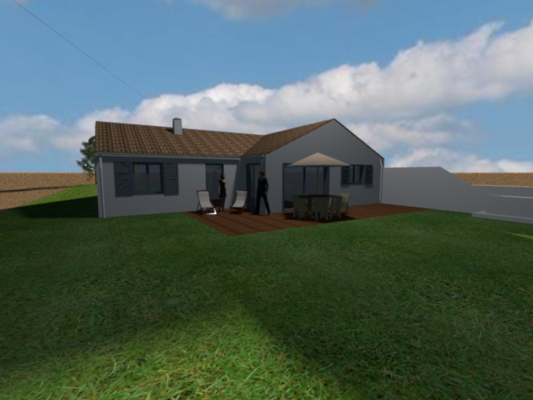 Construction de la maison en 3d avec sweet home 3d for Exterieur maison 3d