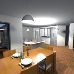 Vue 3D intérieur en vue virtuelle 1