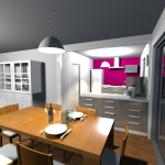 Vue 3D intérieur en vue virtuelle 2
