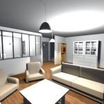 Vue 3D intérieur en vue virtuelle 3