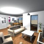 Vue 3D intérieur en vue virtuelle 4