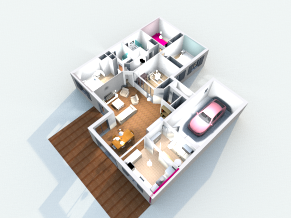 Construction de la maison en 3d avec sweet home 3d for Plan maison interieur 3d