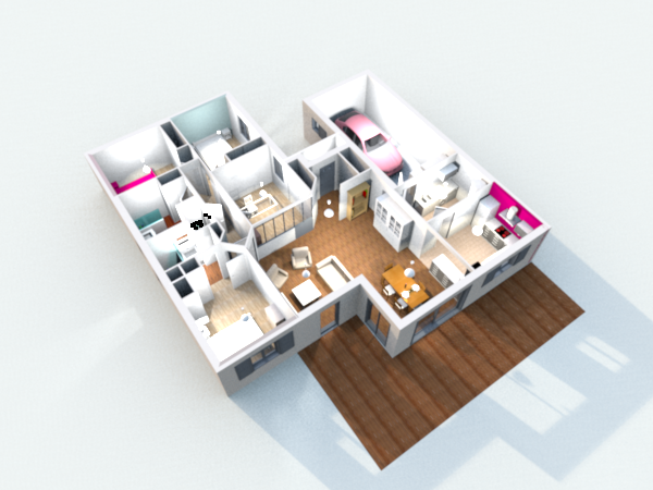 Construction de la maison en 3d avec sweet home 3d for Amenagement interieur 3d en ligne gratuit