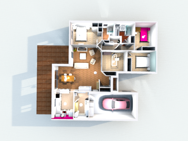 Construction de la maison en 3d avec sweet home 3d - Bibliotheque meuble sweet home d gratuit ...