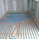 Pose des tubes du plancher chauffant 2