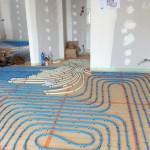 Pose des tubes du plancher chauffant 3