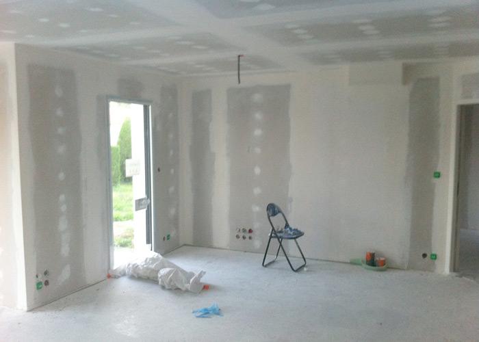 Pon age des jointures des plaques de pl tre for Poncer un plafond