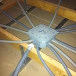 Passage des câbles électriques dans les combles 2