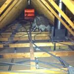 Passage des câbles électriques dans les combles 3