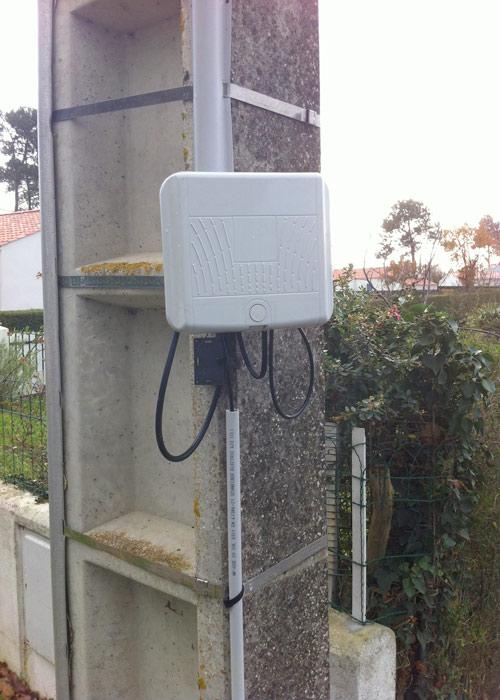 L 39 installation t l phonique et tv par parabole for Boitier exterieur france telecom