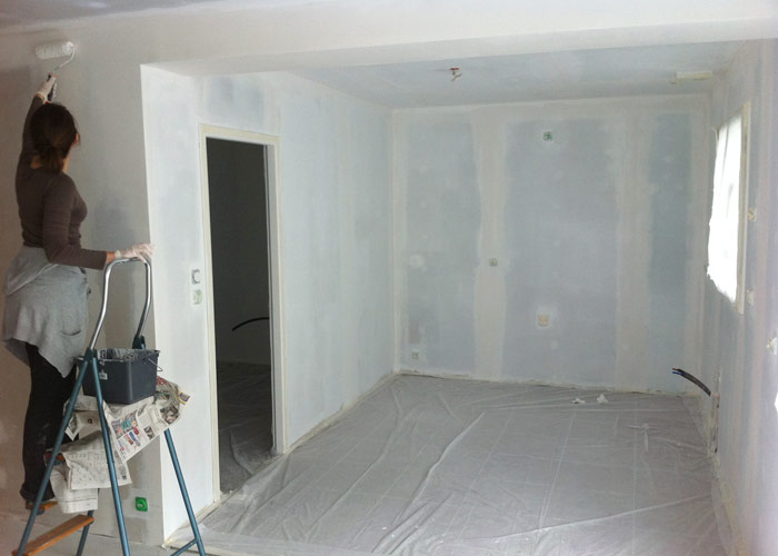 Peintures Intérieures De La Maison - Peinture sous couche placo