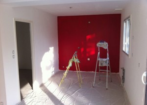Etape des peintures des murs et plafonds de la maison