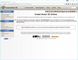 Capture du site pour Sweet Home 3D online