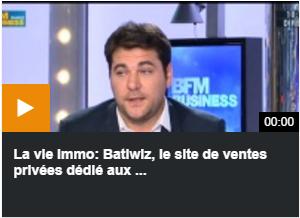 Cédric Fray, fondateur de Batiwiz.com sur BFM Business
