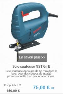 Scie sauteuse BOSCH GST 65 B sur batiwiz.com