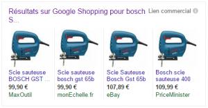 Scie sauteuse BOSCH GST 65 B dans le comparateur Google Shopping