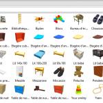 Meubles SH3D payant objets de la chambre