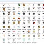 Meubles SH3D payant objets de la cuisine