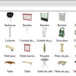 Meubles SH3D payant objets pour les extérieurs