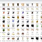 Meubles SH3D payant objets du salon
