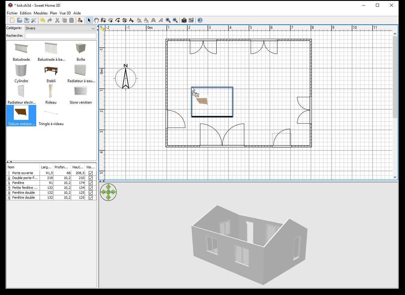 Comment ajouter un toit dans sweet home 3d for Dessins de plan de maison