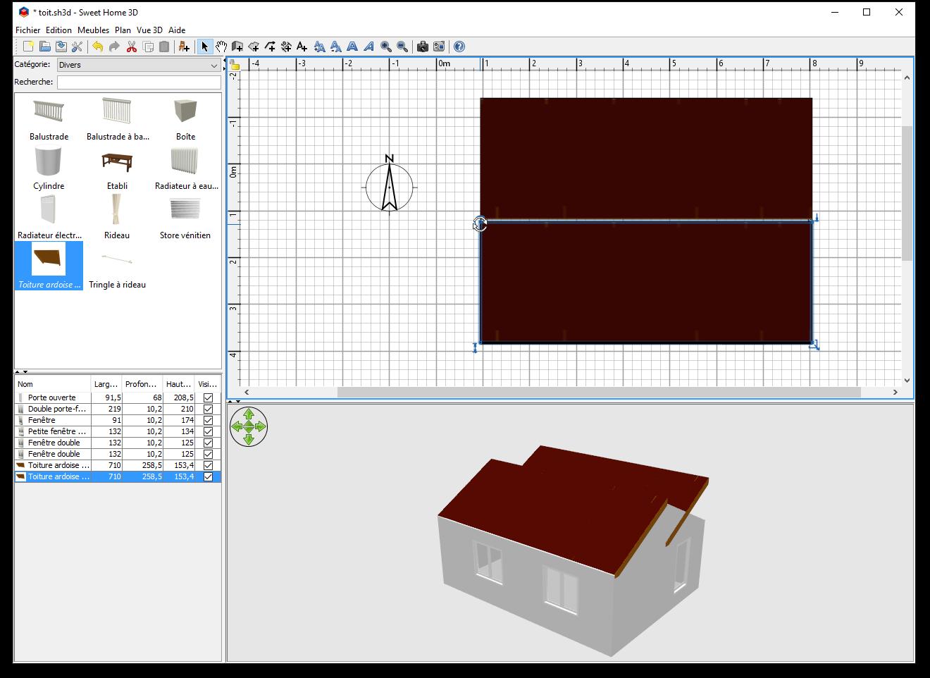 comment ajouter un toit dans sweet home 3d. Black Bedroom Furniture Sets. Home Design Ideas