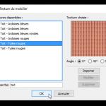 Choix de la texture ardoises / tuiles
