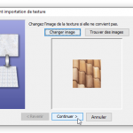 Validation de l'image de la texture