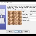 Configuration de la texture