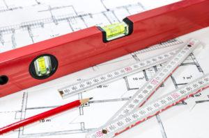 Mesures de plan de maison pour la demande permis construire