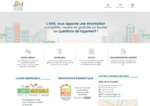 Site de l'ANIL, l'Agence Nationale d'Information sur le Logement