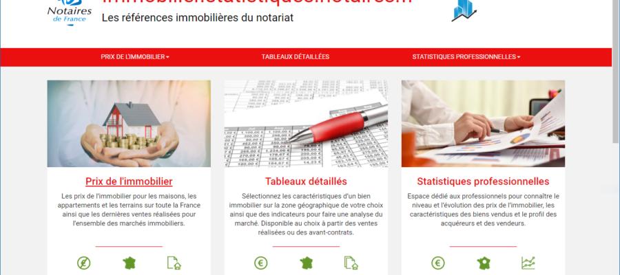 Accueil du site des statistiques immobilières des notaires