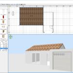 Dessin des murs du garage à toit plat