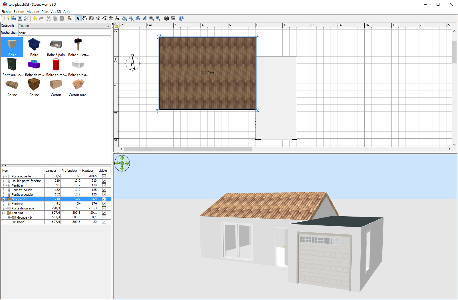 Comment faire un toit plat dans sweet home 3d for Modele maison sweet home 3d
