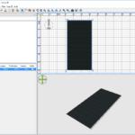 Insertion de l'objet sh3d de toit plat