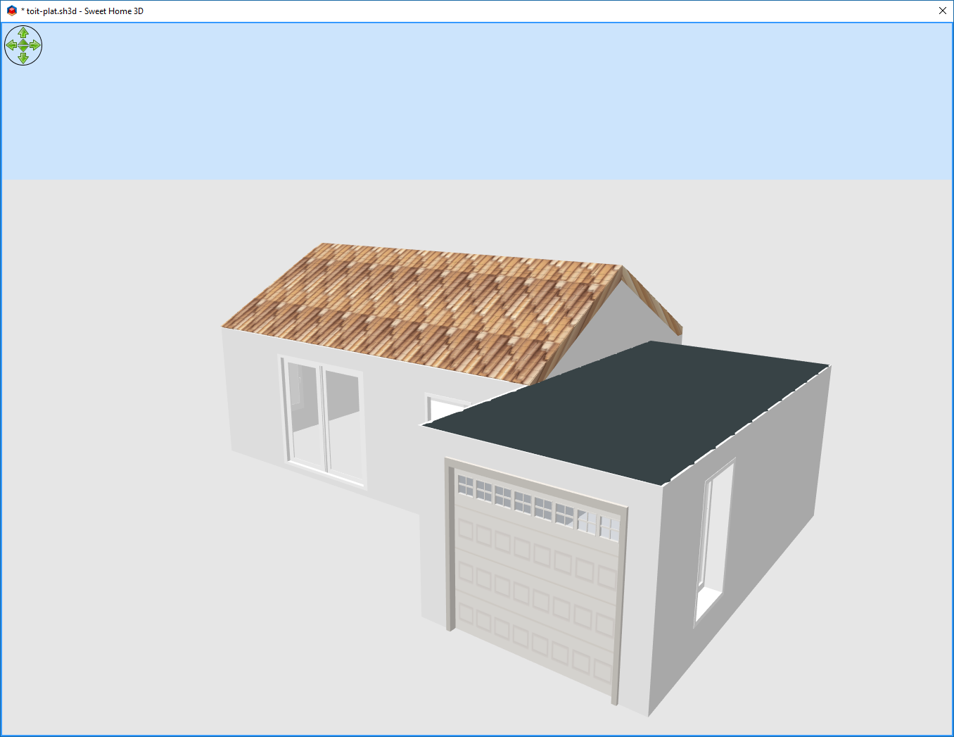 Comment faire un toit plat dans sweet home 3d for Modeliser sa maison