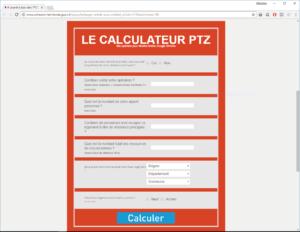 Calculateur PTZ site cohesion-territoires.gouv.fr