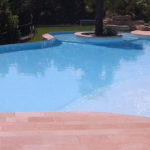 Terrasse en carrelage pour piscine