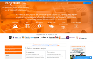 Capture du site projeteurs.com