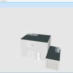 Vue aérienne 3D de la maison à étage