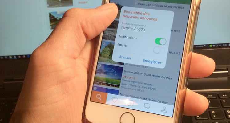 Application Leboncoin sur iPhone