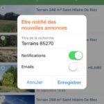 Configuration des alertes par notifications / emails