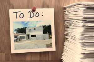 Liste des choses dans un projet de construction