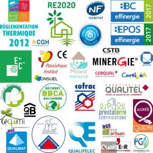 Logos des labels, normes et certifications