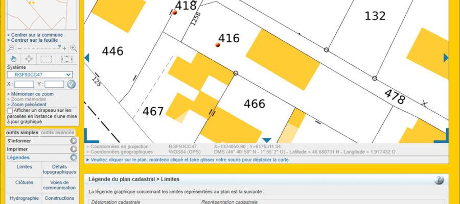 Exemple de plan cadastral d'un terrain