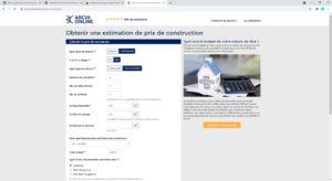 La calculette de la construction archionline.com