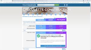 La calculette de la construction forumconstruire.com